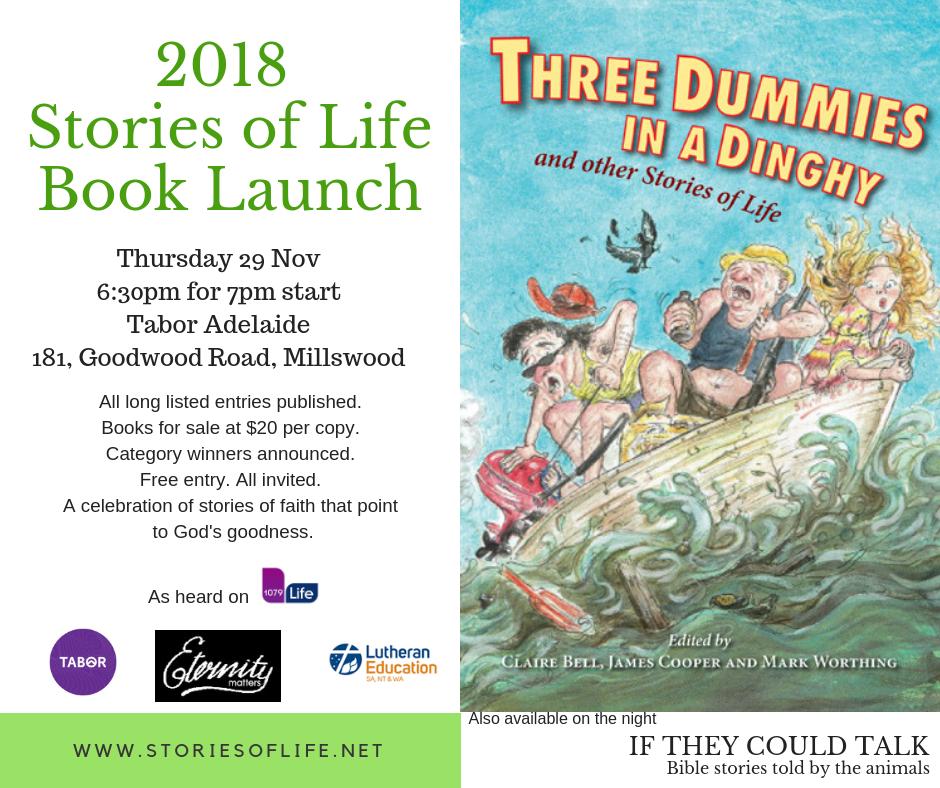 Book Launch invitation (29 Nov Tabor Adelaide)